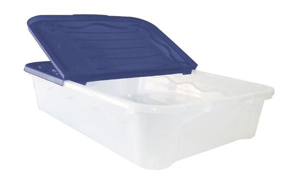 Cassetto Sotto Letto Con Ruote : Casse alte e sottoletto con ruote : box storage duo l 60x40x17h blu